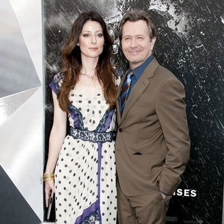 Alexandra Edenborough, Gary Oldman in The Dark Knight Rises New York Premiere - Arrivals