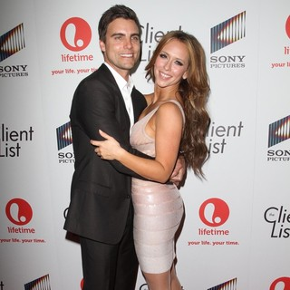 Colin Egglesfield, Jennifer Love Hewitt in Lifetime And Sony Pictures Television Red Carpet Launch Party for The Client List