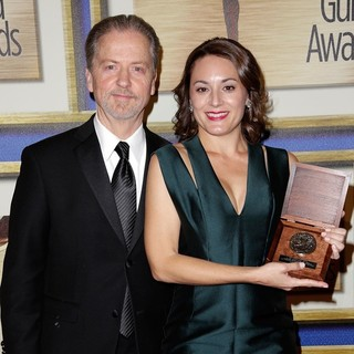 Robert Eisele, Cate Cook in The 66th Annual Writer's Guild Awards - Press Room
