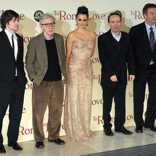 Jesse Eisenberg, Woody Allen, Penelope Cruz, Roberto Benigni, Alec Baldwin in The Italian Premiere of To Rome with Love