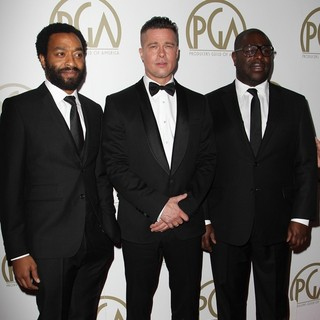 Chiwetel Ejiofor, Brad Pitt, Steve McQueen in The 25th Annual Producer Guild of America Awards - Arrivals