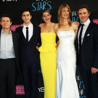 Ansel Elgort, Willem Dafoe, Nat Wolff, Shailene Woodley, Laura Dern, Sam Trammell, Mike Birbiglia in Premiere of The Fault in Our Stars