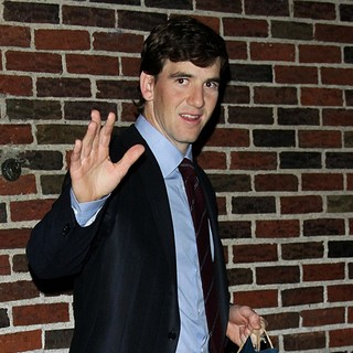 Eli Manning in Celebrities Outside of The Ed Sullivan Theater for The Late Show with David Letterman