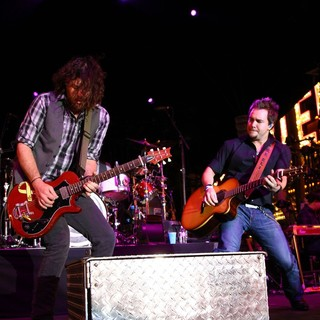 James Young, Mike Eli, Eli Young Band in 2012 ACM Weekend on Fremont Street Experience Saturday Concerts