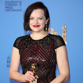 Elisabeth Moss in 71st Annual Golden Globes - Press Room