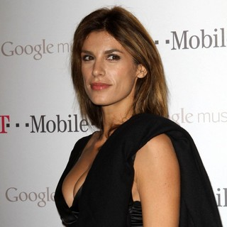 Elisabetta Canalis in Celebrity Magenta Carpet Arrivals at The Launch Party for Google Music Available on T-Mobile
