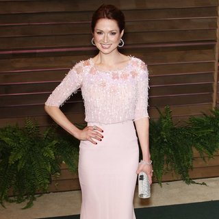 Ellie Kemper in 2014 Vanity Fair Oscar Party