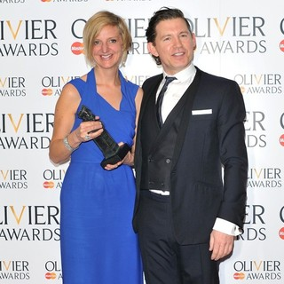 Lee Evans in The Olivier Awards 2013 - Press Room - elliott-evans-olivier-awards-2013-press-room-01