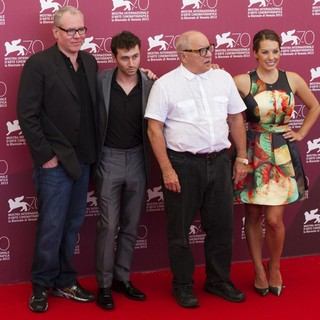 Bret Easton Ellis, James Deen, Paul Schrader, Tenille Houston in 70th Venice Film Festival - The Canyons - Photocall