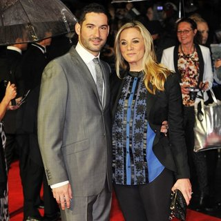 Tom Ellis, Tamzin Outhwaite in 56th BFI London Film Festival: Great Expectations - Closing Film - Arrivals