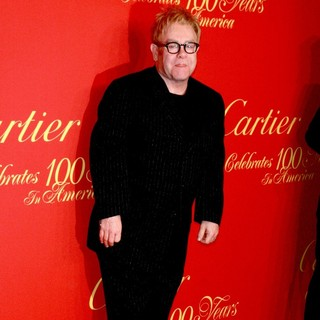 Elton John in Cartier 100th Anniversary in America Celebration - Arrivals - elton-john-cartier-100th-anniversary-01