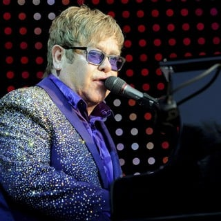 Elton John in Elton John Performing at Tussling Castle