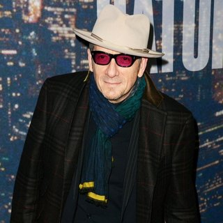 Elvis Costello in Saturday Night Live 40th Anniversary Special - Red Carpet Arrivals