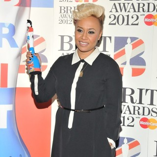 Emeli Sande in The BRIT Awards 2012 - Winners Board