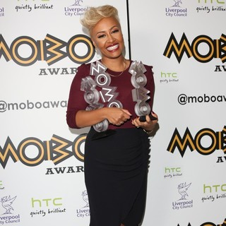Emeli Sande in The MOBO Awards 2012 - Press Room
