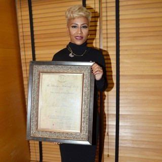 Emeli Sande in The Literary and Historical Society at UCD Presented Emeli Sande with The James Joyce Award