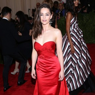 Emilia Clarke in PUNK: Chaos to Couture Costume Institute Gala