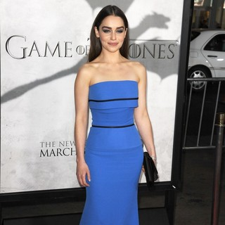 Emilia Clarke in Premiere of The Third Season of HBO's Series Game of Thrones - Arrivals