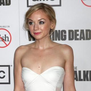 Emily Kinney in Premiere of AMC's The Walking Dead 3rd Season - Arrivals - emily-kinney-premiere-the-walking-dead-3rd-season-01