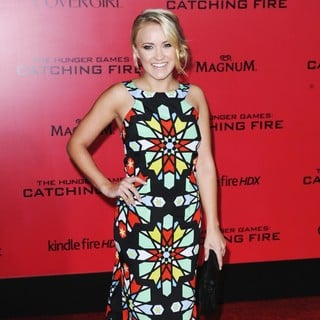 Emily Osment in The Hunger Games: Catching Fire Premiere