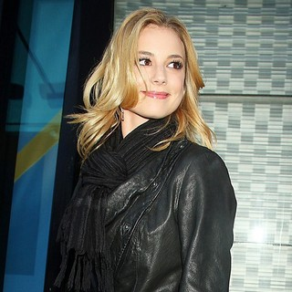 Emily VanCamp in At ABC Studios for An Appearance on Good Morning America