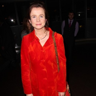 Emily Watson in Celebrities Outside The Soho Hotel