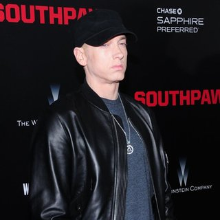 Eminem - New York Premiere of Southpaw for THE WRAP - Arrivals