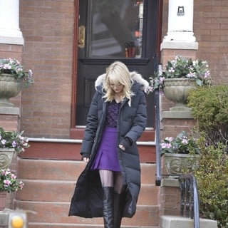 Emma Stone in The Film Set of The Amazing Spider-Man 2