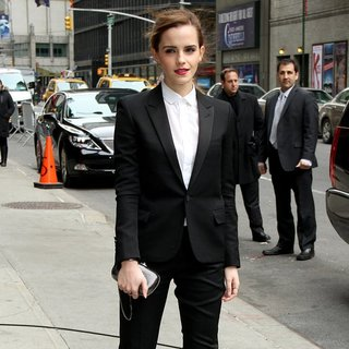 Emma Watson in Celebrities for The Late Show with David Letterman