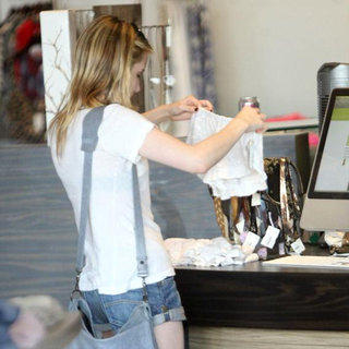 Emma Roberts in Emma Roberts Shops for Underwear at Planet Blue in Beverly Hills