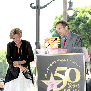 Emma Thompson, Hugh Laurie in Emma Thompson Is Honoured with The 2,416th Star on The Hollywood Walk of Fame