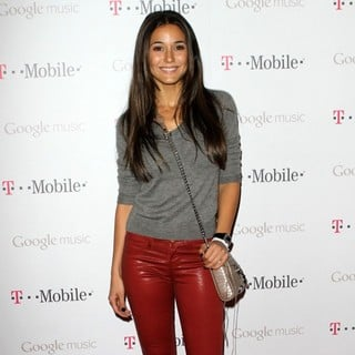 Emmanuelle Chriqui in Celebrity Magenta Carpet Arrivals at The Launch Party for Google Music Available on T-Mobile