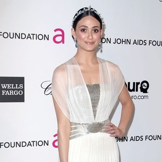 Emmy Rossum in 21st Annual Elton John AIDS Foundation's Oscar Viewing Party