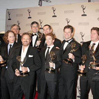 Seth Green, Matthew Senreich in 2010 Creative Arts Emmy Awards - Press Room