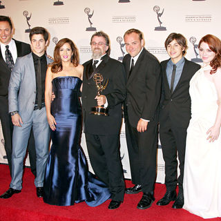 David Henrie, Maria Canals Barrera, Peter Murrieta, Jake T. Austin, Jennifer Stone in 2010 Creative Arts Emmy Awards - Press Room