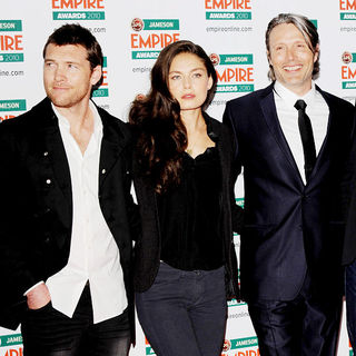 Sam Worthington, Alexa Davalos, Mads Mikkelsen in The Empire Film Awards 2010