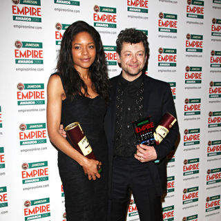 Naomie Harris, Andy Serkis in The Empire Film Awards 2010 - Press Room