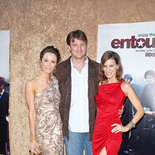 Abigail Spencer, Nathan Fillion, Perrey Reeves in Los Angeles Premiere of The HBO Original Series 'Entourage' - Arrivals