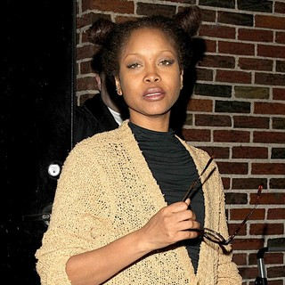 Erykah Badu in Celebrities Arrive at The Ed Sullivan Theater for The Late Show with David Letterman