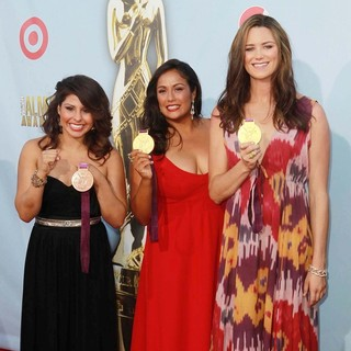 Marlen Esparza, Brenda Villa, Jessica Steffens in 2012 NCLR ALMA Awards - Press Room