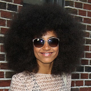 Esperanza Spalding Exiting The Ed Sullivan Theater for The Late Show with David Letterman