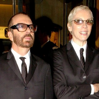 Eurythmics, Dave Stewart, Annie Lennox in Eurythmics Leaving Harrods Where They Were Launching Eurythmics Latest Album