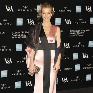 Eva Herzigova in Alexander McQueen: Savage Beauty - Private View - Red Carpet Arrivals