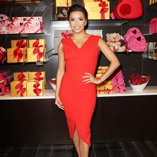Eva Longoria Celebrates Valentine's Day with Godiva