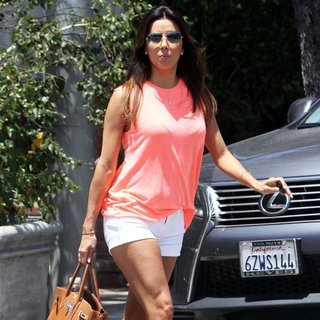 Eva Longoria Leaves A Hair Salon