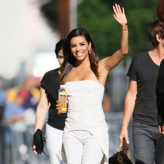 Eva Longoria Seen Arriving for A Taping of Jimmy Kimmel Live!