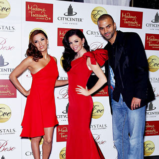 Eva Longoria, Tony Parker in Eva Longoria Is Inducted Into Madame Tussauds Las Vegas During National Hispanic Heritage Month
