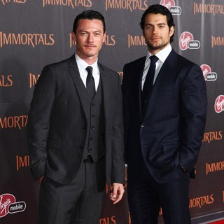 Luke Evans, Henry Cavill in Immortals 3D Los Angeles Premiere