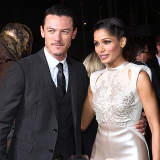Luke Evans, Freida Pinto in Immortals 3D Los Angeles Premiere