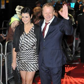 Megan Everett, Stellan Skarsgard in The Girl with the Dragon Tattoo - World Premiere - Arrivals
